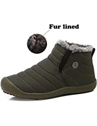 "<span class=""a-offscreen"">[Sponsored]</span>Snow Boots, SITAILE Women Men Fur Lined Waterproof Winter Outdoor Slip On Boots Ankle Snow Booties"