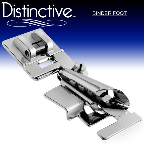 Distinctive Binder Sewing Machine Presser Foot - Fits All Low Shank Snap-On Singer, Brother, Babylock, Euro-Pro, Janome, Kenmore, White, Juki, New Home, Simplicity, Elna and More! (Bias Sew Binding)