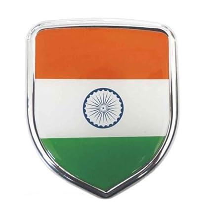 S2stm India Flag 3d Chrome Sticker Emblem Badge Logo For Cars