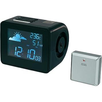 Reloj proyector con previsión meteorológica: Amazon.es ...