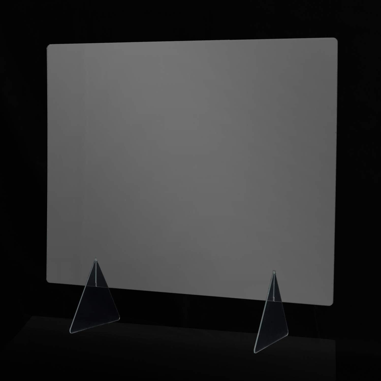 Desconocido Mampara de metacrilato Transparente para Colgar del Techo o de pie en mostrador. Kit de Montaje Incluido. Entrega 48-72 Horas (600x 600 x 3 mm con ventanilla): Amazon.es: Hogar