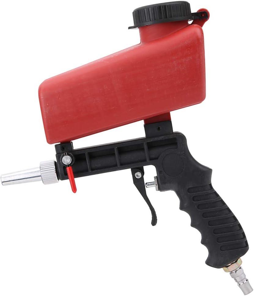 Máquina de chorro de arena con pistola de aire manual, pequeña herramienta de chorro de arena, 90 psi para fabricación de equipos mecánicos, mantenimiento de automóviles