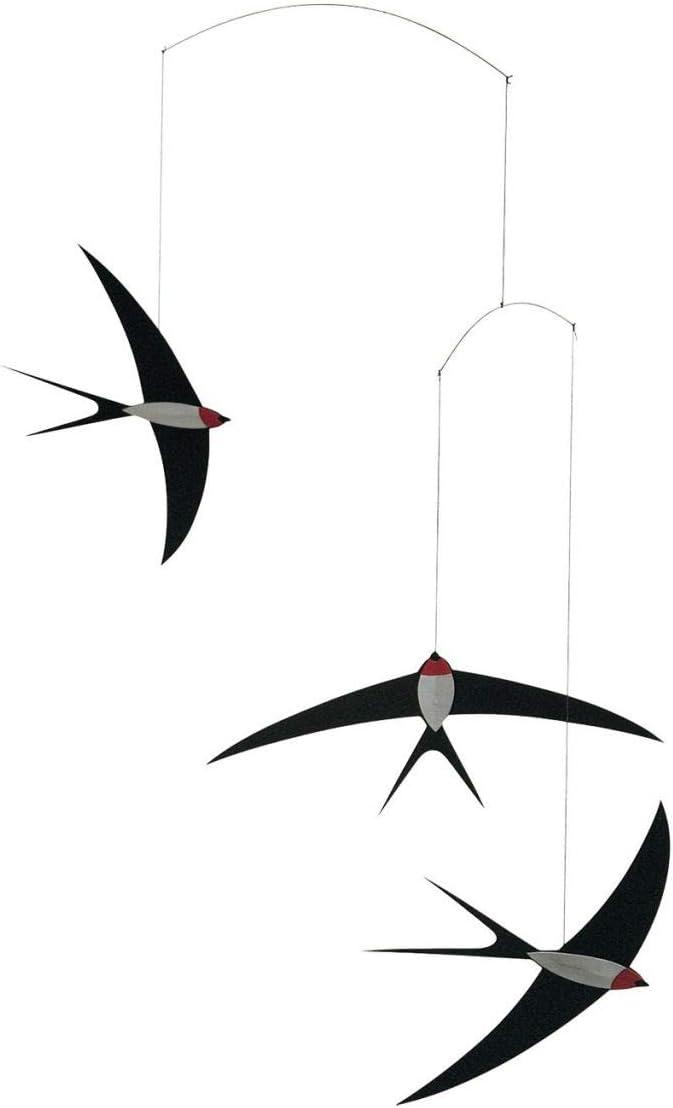 3 golondrinas M/óvil con forma de golondrina volando Flensted