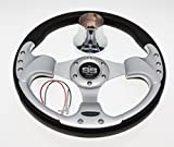EZ-GO RXV and TXT Chrome/Black Steering Wheel with Hub Adapter