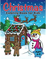 Christmas Coloring Book for Kids: Xmas Holiday Designs to Color for Children Ages 4 - 8