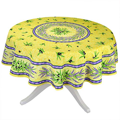 Matisse Yellow French Provencal Stain Resistant Tablecloth - 70
