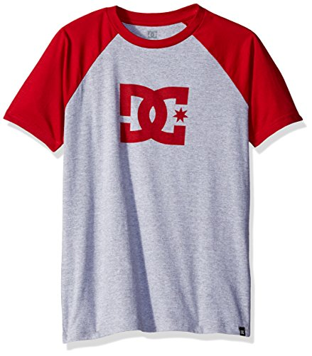 dc-big-boys-baseball-raglan-shirt-chili-pepper-grey-heather-12-m