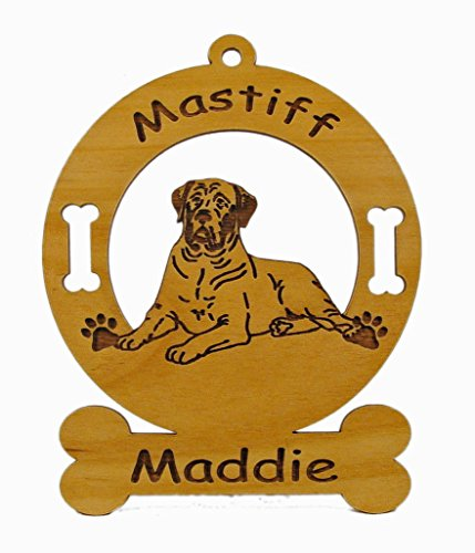 Mastiff Dog Ornament - 3546 Mastiff Laying Ornament Personalized with Your Dog's Name