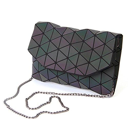KAISIBO Geometric Metal Chain Shoulder Purses and Handbags Crossbody Messenger Bag(K3160)