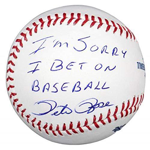 Pete Rose Autographed Baseball w/I'm Sorry I Bet On Baseball - JSA Certified - Autographed Baseballs