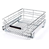 """Seville Classics Pull-Out Sliding Steel Wire Cabinet Organizer Drawer, 14"""" W x 17.75""""D x 6.3"""""""