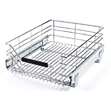 "Seville Classics Pull-Out Sliding Steel Wire Cabinet Organizer Drawer, 14"" W x 17.75""D x 6.3"""