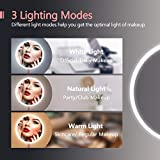 Makeup Mirror with Lights, Rechargeable Cordless