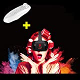 """Mini VR Headset, Tsanglight 3D VR Glasses/Box [Compact Version] + Bluetooth Remote Controller for iPhone 7/6/6S Plus/SE Samsung Galaxy S7 Edge S7/6 /J7/A5/A3 2016 & Other 4.5""""-5.5"""" Cellphones - Black"""