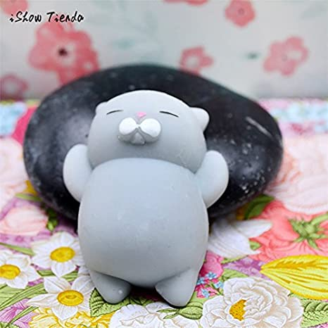 Cute Mochi Squishy Cat Squeeze Healing Fun Kids Kawaii Toy Stress Reliever Decor Christmas Gift Dropshipping