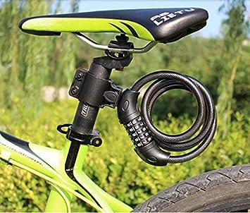 HNMS Bicicleta Contraseña Cerradura Accesorios para Bicicletas voladoras Batería Anti-Corte Coche Cerradura de Cable de Coche eléctrico Cerradura de Bicicleta de montaña Cerradura antirrobo (Negro): Amazon.es: Deportes y aire libre