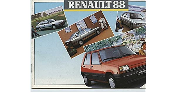 Amazon.com: 1988 Renault 4 5 9 11 21 25 Express Espace Jeep Alpine Brochure French: Entertainment Collectibles