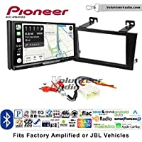 Volunteer Audio Pioneer AVIC-W8400NEX Double Din Radio Install Kit with Navigation, Apple CarPlay and Android Auto Fits 2000-2004 Toyota Avalon with Amplified System