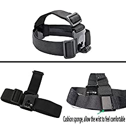 Black Pro Basic Common Outdoor Sports Kit For Gopro Hero 6 Gopro Fusionhero 5session5 4 3+ 3 2 1 Sj4000 5000 6000 Akaso Apeman Dbpower & Sony Sports Dv & More 4
