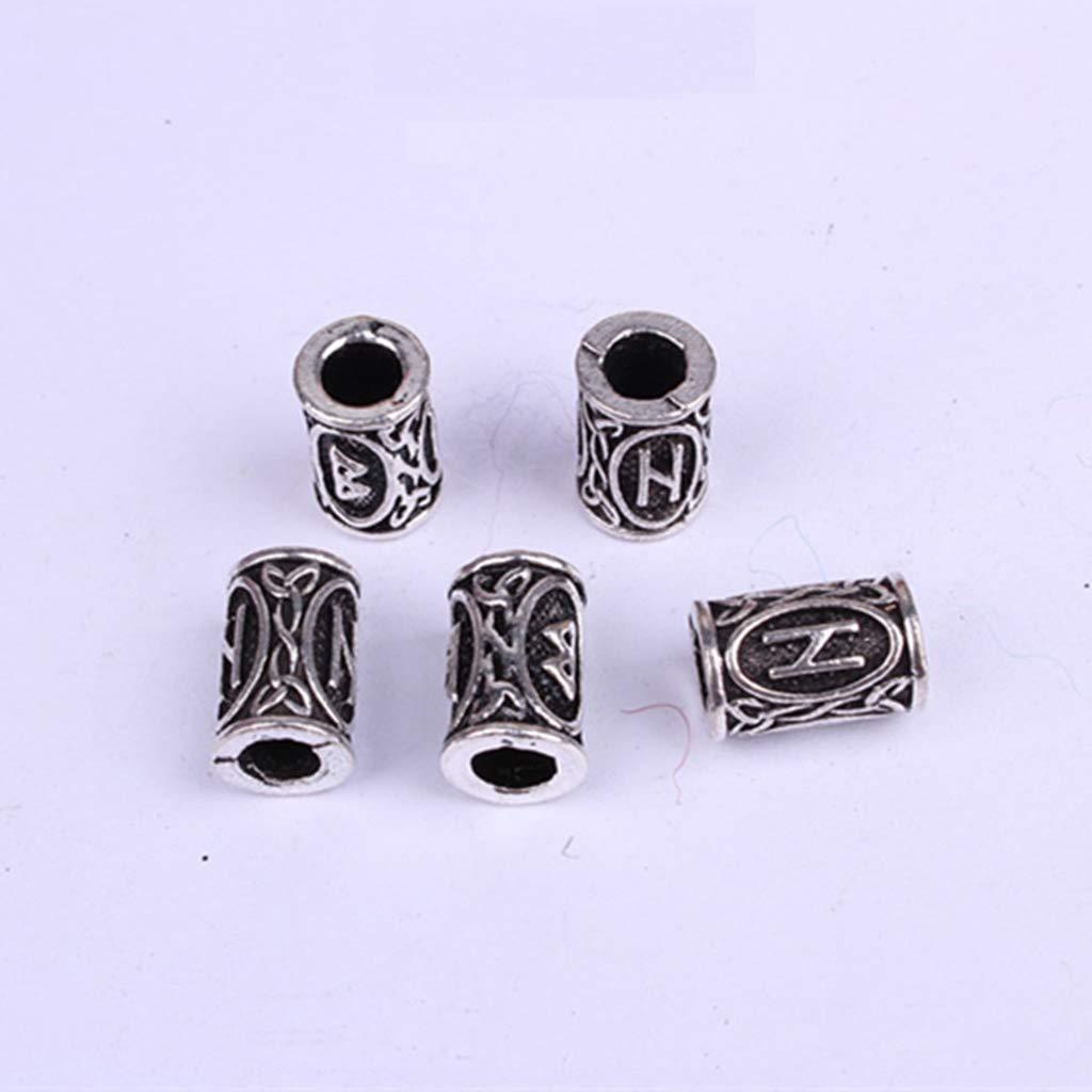 Minidar Viking Rune Beards Bricolaje Abalorios para Reggae Trenzas ...
