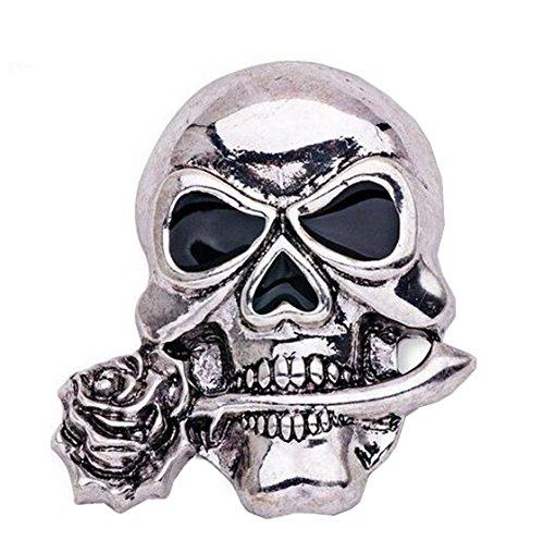 Zmdnys Halloween Punk Costume Jewelry Skull Brooch Pin (style 1) -