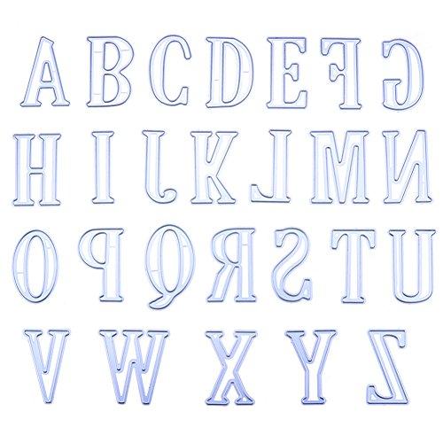 Yiwa Letras grandes del alfabeto de 5CM, Plantillas de troqueles para corte de metal para Scrapbooking de bricolaje: Amazon.es: Hogar
