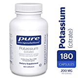 Pure Encapsulations - Potassium (Citrate) - Essential Mineral for Vascular Function and Overall Health* - 180 Capsules