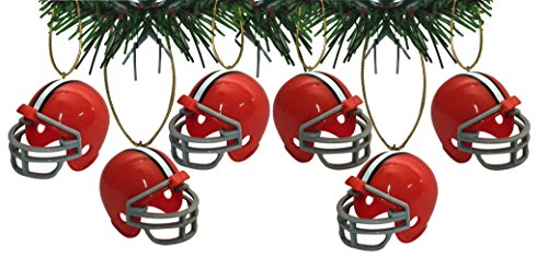 Cleveland Browns Football Helmet Ornaments Set Of 6 Nfl Football Snowman Ornament