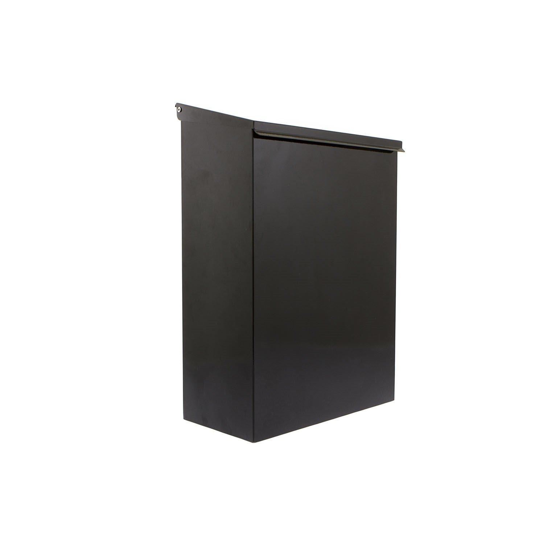 Sterling Thames Steel Newspaper Box - Black Sterling Locks NPB02BK