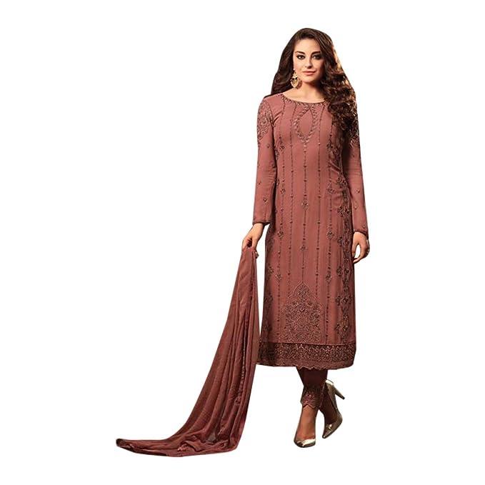 Amazon.com: Vestido largo de estilo étnico Georgette ...