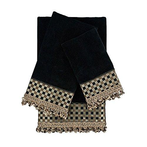 Sherry Kline Linden Black 3-piece Decorative Embellished Towel Set (Embellished Towel Sets)