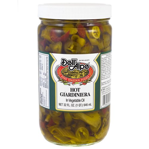 Dell'alpe Hot Giardiniera 32 oz