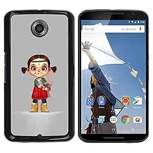 Paccase / SLIM PC / Aliminium Casa Carcasa Funda Case Cover - Indian Kid Children'S Character Mother - Motorola NEXUS 6 / X / Moto X Pro