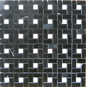 Stone Mosaic Tile Backsplash Tumbled Minipinwheel Mosaic Polished