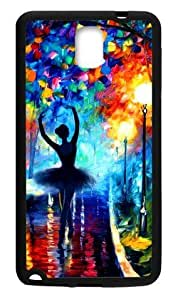Hoomin Colorful Printed Ballet Dancer Pattern Samsung Galaxy Note3 Cell Phone Cases Cover Popular Gifts(Laster Technology)