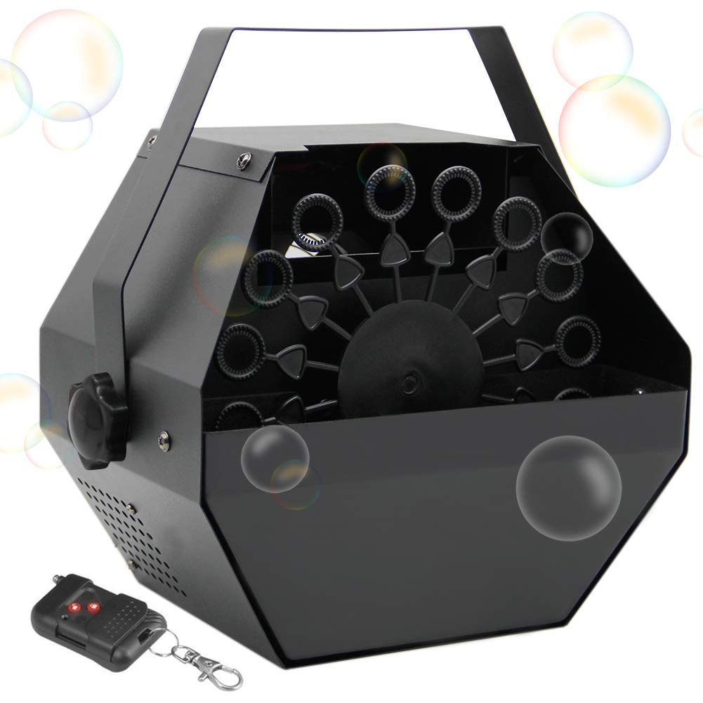 ATDAWN Portable Bubble Machine, Professional Automatic Bubble Maker with High Output for Outdoor/Indoor Use, Wireless Remote Control (Black) by ATDAWN