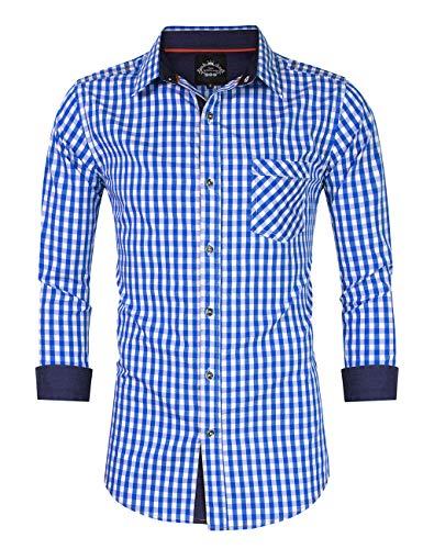 Pour Fine Blanche Cuir Broderie En Chemise Kojooin Bleu Homme pantalon Avec Traditionnel Et Slim Homme Yw0RqT6P