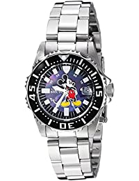 Womens Disney Limited Edition Quartz Stainless Steel Casual Watch, Color:Silver-