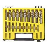 UEB Mini twist drill Bit Kit, 0.4mm-3.2 HSS Micro Precision Twist Drill 150Pcs with Carry Case for PCB Crafts Jewelry Drilling Tool