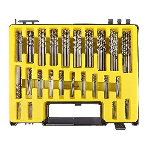 UEB Mini twist drill Bit Kit, 0.4mm-3.2 HSS Micro Precision Twist Drill 150Pcs with Carry Case for PCB Crafts Jewelry Drilling (Micro Tool Box)