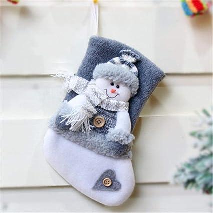 Christmas Elk Santa Stockings Small Large Socks New Year ...