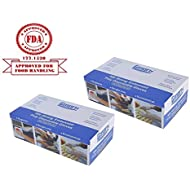 Gmark Disposable Gloves (1000 Count), Food Safe, Poly Food Gloves Latex Free 2 Box of 500 Count GM1070