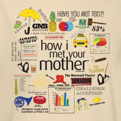 How I Met Your Mother Unisex Quote Mashup T Shirt Amazoncom