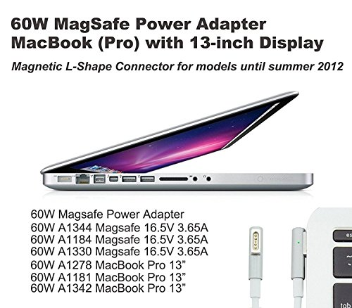 Replacement Macbook Charger, 60W L-Tip Connector AC Power Adapter Charger for Macbook Air by LED (Image #5)