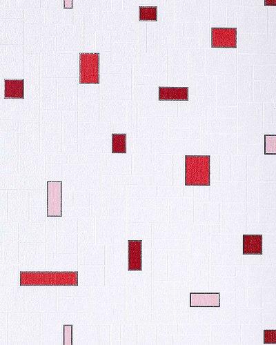 Küchentapete Stein Tapete EDEM 584-24 Vinyl Flur Bad Tapete Fliesen Mosaik-Stein Optik hochwaschbar weiß rot rosa silber