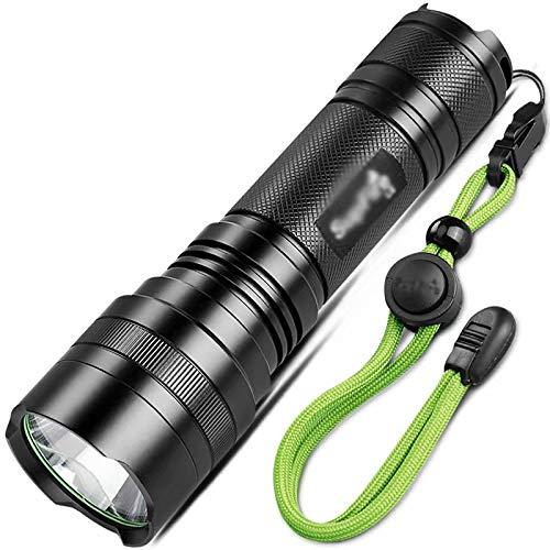 3w + Batterie  1  GL-Home [Torche à LED Rechargeable] Lampe de Poche à Del très Brillante pour Le Camping, la randonnée, la pêche
