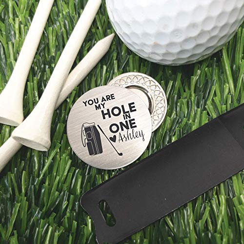 Valentines Gift for Him Personalized Golf Ball Marker Men
