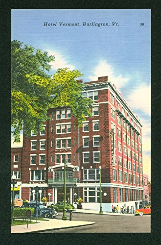 Hotel Vermont Burlington Street Scene Vintage - Street Church Burlington