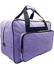 FamYun حقيبة حمل حقيبة حمل ، غطاء تخزين مبطن مع جيوب ومقابض، قماش (أرجواني)