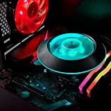 Cooler Master MAM-G1CN-924PC-R1 MasterAir G100M RGB Low Profile CPU Air Cooler Copper Heat Column Technology Ring and Fan